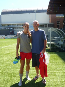 Alex Morgan with Ron Benjamin