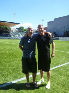 Ron Benjamin with Thorns Assistant Coach John Galas