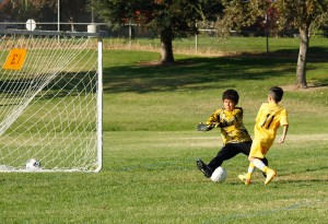 Aaron Lopez, #11, Scores the Golden Goal for the U10B Black