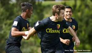 Placer United Alumni Player, Johannes DeMarzi (center), Midfielder with San Francisco City FC