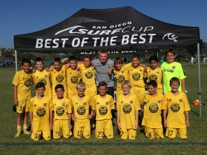 Placer United U12B 04 Gold 2015 soccerloco Surf Cup Champions