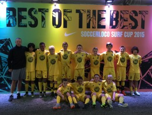 Placer United U13B 03 Gold 2015 soccerloco Surf Cup Finalists