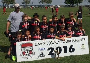 Placer United U11B 06 Black - 2016 Davis Legacy League 1 Champions