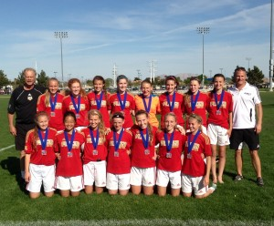 Placer United U15G 99 Red Players College Showcase Champions