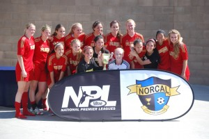 U18G Red National Premier League Champions