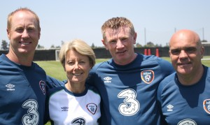 (l-r) Coach Matt McDougall, Irish Women's Team Head Coach Sue Ronan, Coach Paul O'Brien, Irish Women's Team Assistant Coach Tom O'Connor