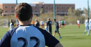 Conner Hallisey (22) looking on before the game against FC Tucson. Photo Credit: Chad Smith, ReportingKC.com